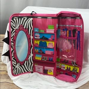 Barbie Travel Doll Play Purse Soft Carry Case